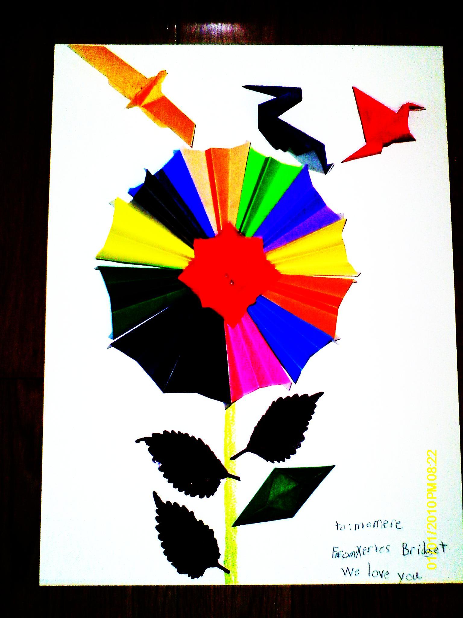 origami flower power butterflyblot